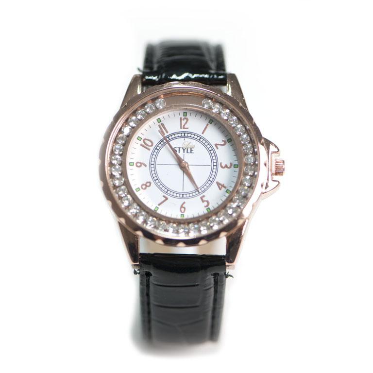 Leder Uhr Schwarz Modeuhren Luxstyle Ch