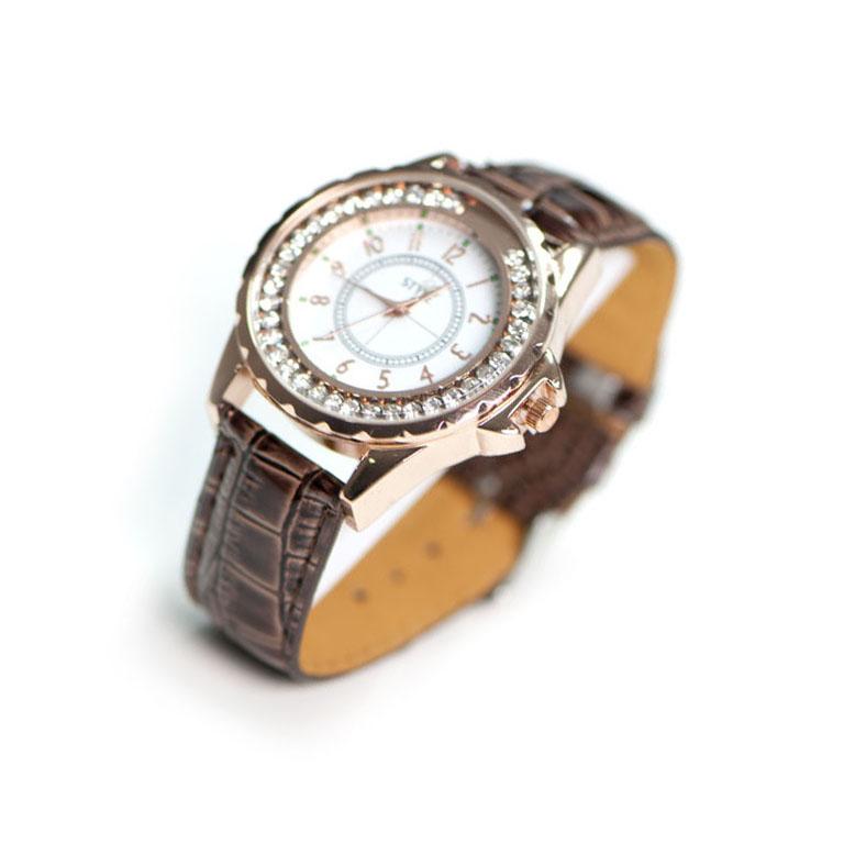 Leder Uhr Braun Modeuhren Luxstyle Ch