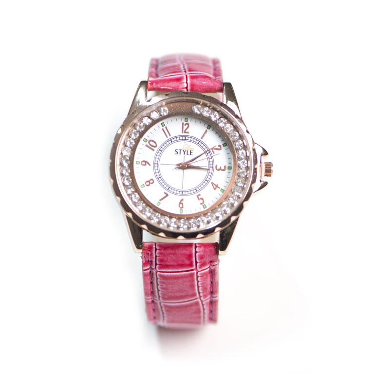 Leder Uhr Pink Modeuhren Luxstyle At