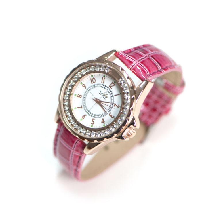 Leder Uhr Pink Modeuhren Stylelux De
